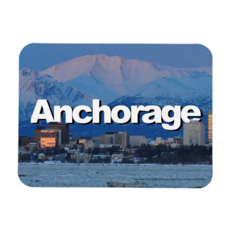 Anchorage Alaska Skyline with Anchorage in the Sky Magnet