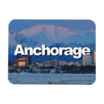 Anchorage Alaska Skyline with Anchorage in the Sky Rectangular Photo Magnet