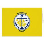 Anchorage, Alaska, United States flag Greeting Card