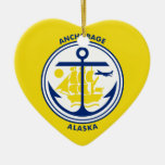 Anchorage, Alaska, United States flag Christmas Ornament