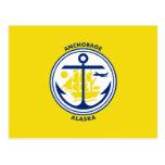 Anchorage, Alaska, United States flag Postcard