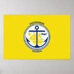 Anchorage, Alaska, United States flag Poster