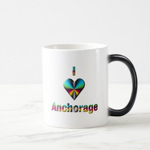 Anchorage -- Blue Green & Burgundy Coffee Mug