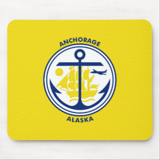 Anchorage city Alaska flag united states america s Mouse Pad