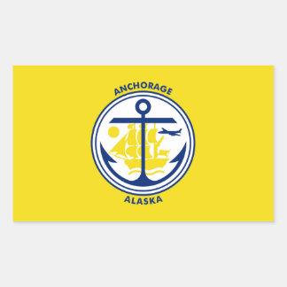 Anchorage city Alaska flag united states america s Rectangular Sticker