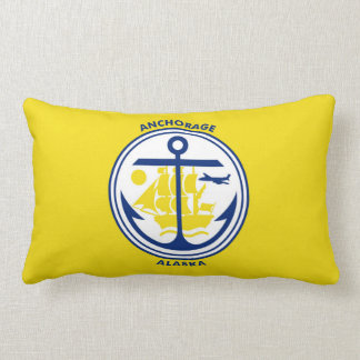Anchorage city Alaska flag united states america s Throw Pillow