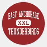 Anchorage del este - Thunderbirds - alta - Pegatina Redonda