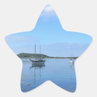 Anchorage en el Scillies Pegatina En Forma De Estrella