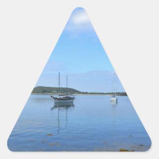 Anchorage en el Scillies Pegatina Triangular
