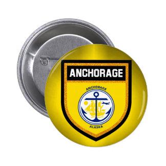 Anchorage Flag Pinback Button