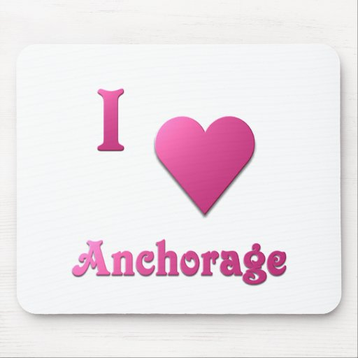 Anchorage -- Hot Pink Mouse Pad