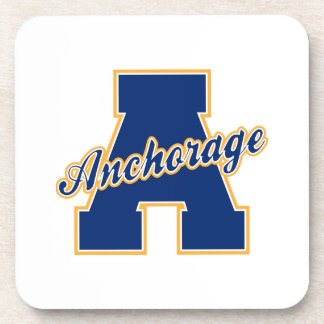 Anchorage Letter Beverage Coaster