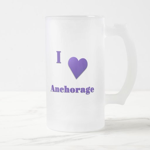 Anchorage -- Midnight Blue Frosted Glass Beer Mug
