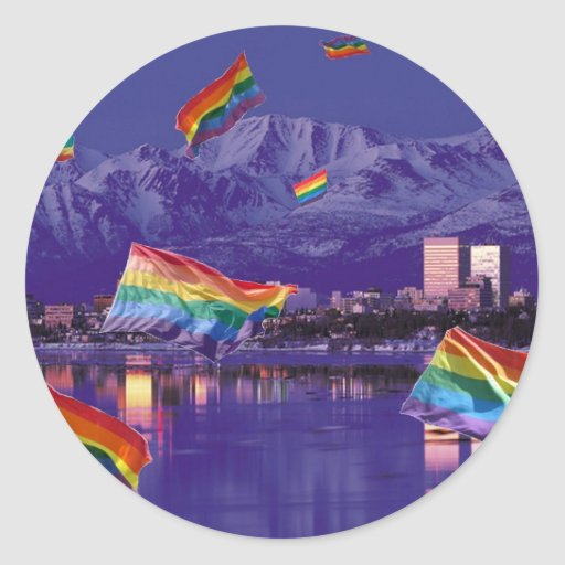 Anchorage, orgullo del vuelo de AK Pegatina Redonda