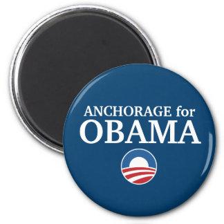 ANCHORAGE para el personalizado de Obama su ciudad Imanes De Nevera