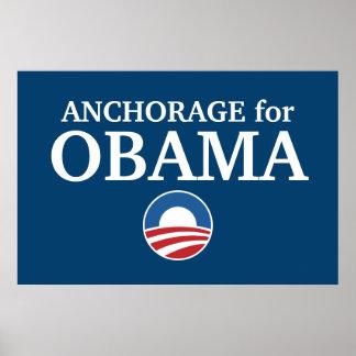 ANCHORAGE para el personalizado de Obama su ciudad Poster