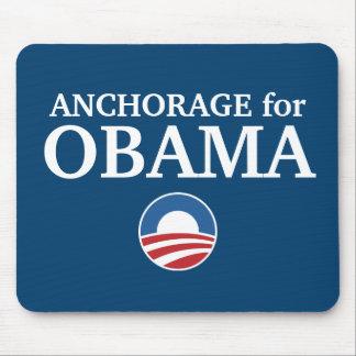 ANCHORAGE para el personalizado de Obama su ciudad Tapetes De Ratón