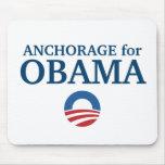 ANCHORAGE para el personalizado de Obama su ciudad Alfombrilla De Raton