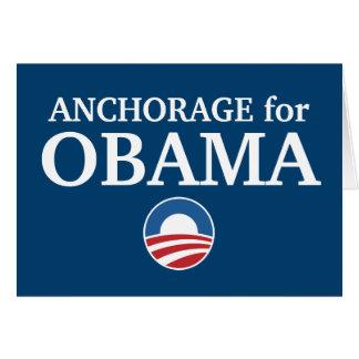ANCHORAGE para el personalizado de Obama su ciudad Tarjetas