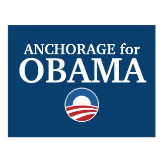 ANCHORAGE para el personalizado de Obama su ciudad Postales