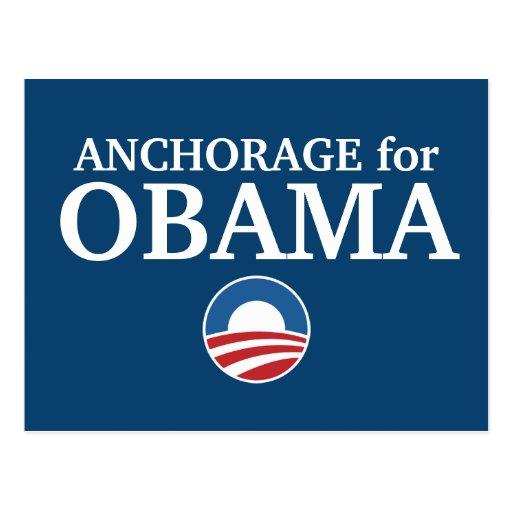 ANCHORAGE para el personalizado de Obama su ciudad Postal