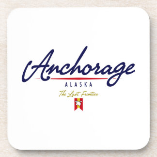 Anchorage Script Drink Coaster