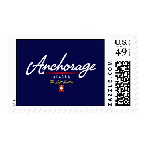 Anchorage Script Postage Stamps