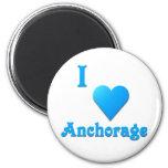 Anchorage -- Sky Blue Refrigerator Magnet