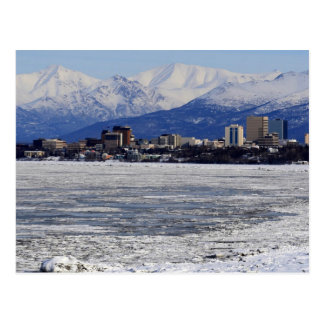 Anchorage Skyline, Alaska Postcard