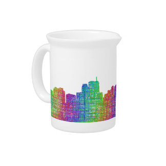 Anchorage skyline beverage pitcher