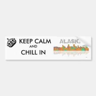 Anchorage Skyline Bumper Sticker