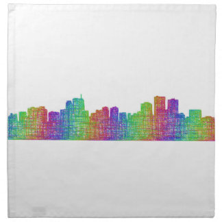 Anchorage skyline cloth napkin