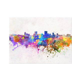 Anchorage skyline in watercolor background canvas print
