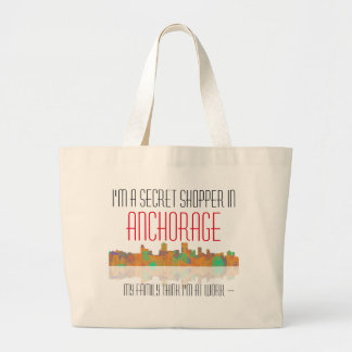 Anchorage Skyline Large Tote Bag