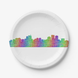 Anchorage skyline paper plate
