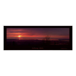 Anchorage Sunset Poster