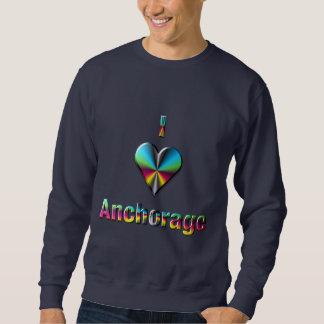 Anchorage -- Verde azul y Borgoña Suéter