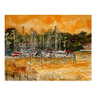 Anchorage Yacht Basin Marina Melbourne Florida Postcard