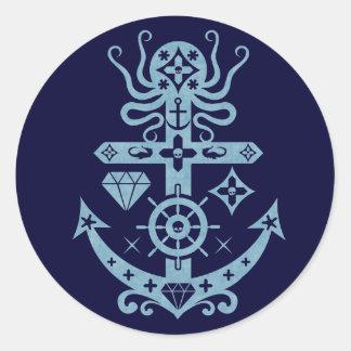 Anchored Classic Round Sticker