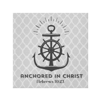 Anchored in Christ Canvas Print