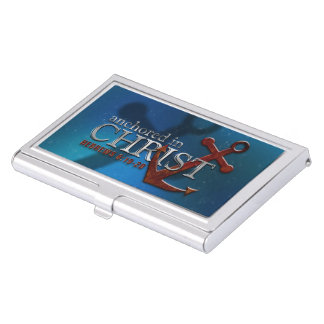 Anchored in Christ Case For Business Cards