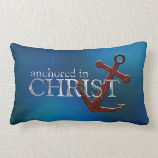 Anchored in Christ Throw Pillow