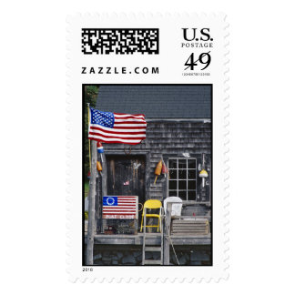 Anchored  in Granite Postage Stamp