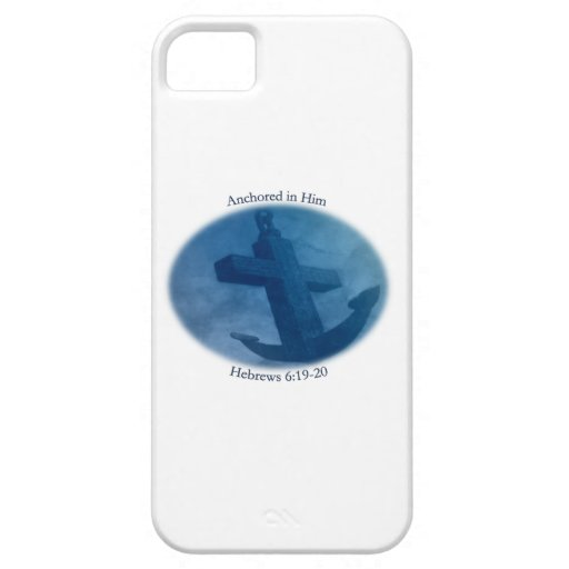 Anchored in Him iPhone 5 Cover