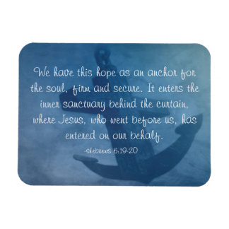 Anchored in Him Magnet