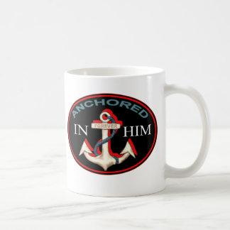 Anchored in Him Mug