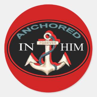 Anchored in Him Sticker