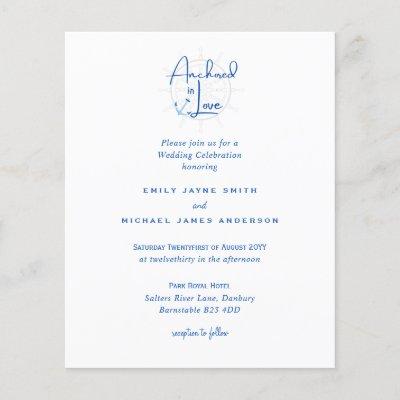 Anchored in Love Modern Nautical Wedding Invites