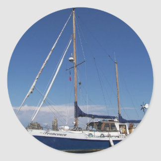 Anchored In Southern Italy Classic Round Sticker