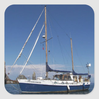 Anchored In Southern Italy Square Sticker